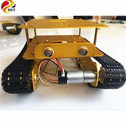 Wholesale Diy Metal Car - Wholesale- Original DOIT Double Decker Damping Robot Tank Car Chassis TS100 from DIY Crawler Tracked Model Robotic Experiment Functional