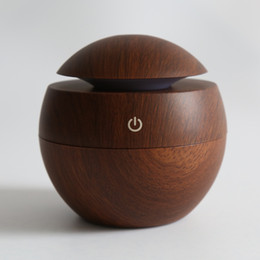 Wholesale Humidifier Types - Tuansing New Wood Mini Ultrasonic Humidifier USB Portable Color Changing LED Aroma Diffuser Air Purifier Aromatherapy Mist Maker