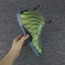 Wholesale Shining Pu Leather - 2017 New Pro AS QS Green yellow Penny Hardaway Men's Basketball Shoes for Top quality One Shine Fashion Sports Training Sneakers Size 40-47