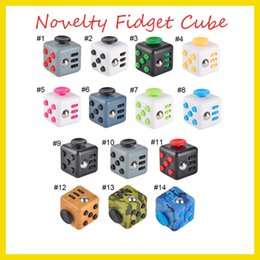 Wholesale Wisdom Kids Toys - New Novelty Fidget Cube Stress Relief Toys 14 colors for kids and adults Decompression stress ball wisdom Children Christmas Gift 2107168