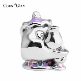 Pandora серебряный волшебный шарм онлайн-Подходит Pandora подвески браслеты бусы для изготовления ювелирных изделий сказка миссис Поттс чип смешанные бусины стерлингового серебра 925 ювелирные изделия