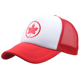 Wholesale Hats Wholesalers Canada - Fashion Designer Air-Canada Maple Leaf Hat Adult Trucker Caps Summer Mesh Hats Sport Toranto Hats 15 Colors