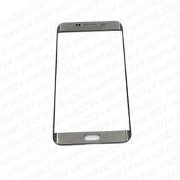 samsung galaxy s6 reemplazo de cristal de pantalla Rebajas Reemplazo de la lente de cristal de la nueva pantalla táctil frontal para Samsung Galaxy S6 Edge G925 S7 Edge G935