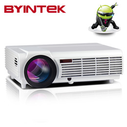 Wholesale Projector Full Hd Wifi - Wholesale-BYINTEK BT96 Smart Home Theater Wifi 1080P Video Bluetooth lEd96 LED fuLL HD Projector projecteur Proyector For Iphone Android