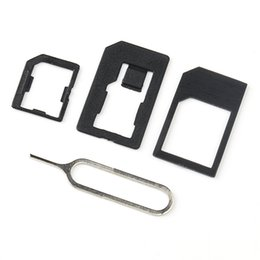 Wholesale Tool For Micro Sim - High Quality 4 In 1 Nano Sim Card Adapters+Stander Sim Card & Tools for Iphone 4g 5g 6g