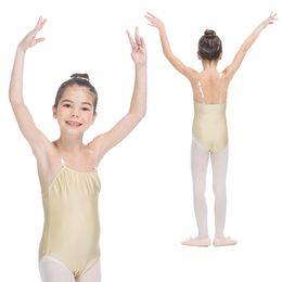 Wholesale Girls Spandex Underwear - Flesh Color Ballet Dance Nylon Lycra Underwear Camisole Leotards for Girls and Kids Practice Costume Dancewear Full Sizes Available