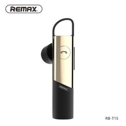 Wholesale Original Car Phone - Original Remax RB-T15 Wireless Business Headset Bluetooth 4.1 Smart Noise Reduction Voice Reminder Mini Car Bluetooth Headset For iPhone 7