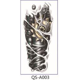 2019 стикер дизайн дракона Wholesale-Individuality Design Waterproof Temporary Flower Arm Tattoo 1687520