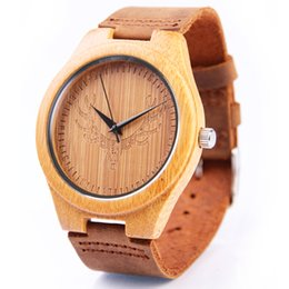 Wholesale Bamboo Band - REDEAR Wooden Mens Watches READER Luxury Male Bamboo case Watch Quartz Movement High-quality Wristwatch Raw Edge Leather Band