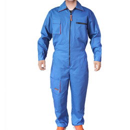 Wholesale Clothing Repair - Mens Work Clothing Long Sleeve Coveralls High Quality Overalls Worker Repairman Machine Auto Repair Electric Welding Plus Size