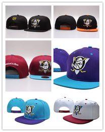 Wholesale Ducks Snapback - High Quality newest Mighty Hockey Bones Snapback Hats Anaheim Ducks bone Flat Fashion nhl Hats sports Cheap mens women baseball caps