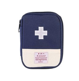Wholesale Emergency Survival Bag - Outdoor First Aid Emergency Medical Survival Kit Bag Wrap Gear Bag Hunting Small Travel Medicine Pack