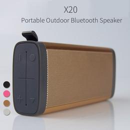 Wholesale Aluminum Phone - X20 Best Sale Aluminum Bluetooth speaker Waterproof Electronic Products Mobile Phone Accessories Portable Wireless Bluetooth Speaker