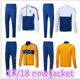 Wholesale Men Jackets Free Shipping - AAA+top quality HIGUAIN tracksuit 2017 2018 jackets MARCHISIO MANDZUKIC DYBALA 17 18 tracksuit jacketS Sweatshirt free shipping