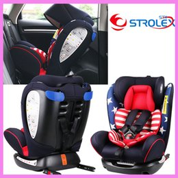 Wholesale Isofix Safety Seats - ISOfix Interface Baby Child Car Safety Seat Folding Ajustable Laying Sitting Five Point Safety Harness Chair Factory Price
