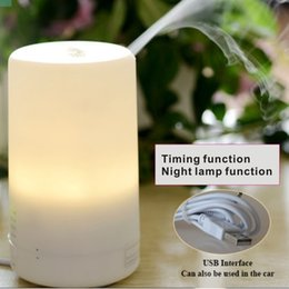 Wholesale Mini Air Humidifiers Purifiers - Mini LED Night Light Air Humidifier Diffuser Essential Oil Ultrasonic Aroma Mist Purifier Mini humidifier   USB Aromatherapy Machine