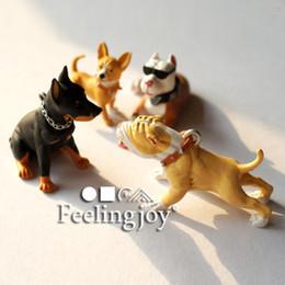 Wholesale rement miniature - G05-X4498 children baby gift Toy 1:12 Dollhouse mini Furniture Miniature rement-hound dog 4pcs set