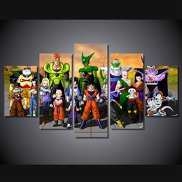Wholesale Dragon Sheets - 5Pcs Set Framed HD Printed Dragon Ball: Xenoverse 2 Wall Art Canvas Print Poster Canvas Pictures Painting For Kid Room