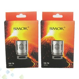 Wholesale Original V8 - Original Smok TFV8 Coil Head V8-T8 V8-T6 V8-Q4 Replacement Coils Fit Smoktech Cloud Beast Tank vapor mods Tank DHL Free