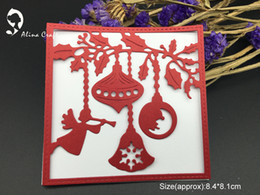 Wholesale Scrapbook Christmas - METAL CUTTING DIES christmas ball background frame Scrapbook card PAPER CRAFT made embossing stencils punch