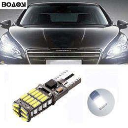 Wholesale Peugeot Led - BOAOSI Car Canbus LED T10 W5W Clearance Parking Light Wedge Lights For Peugeot 307 206 301 207 2008 508 301 3008 406 507 208