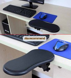 Wholesale Red Desk Chairs - RestMan Computer Arm Support Rest Chair Desk Armrest Ergonomic Mouse Pad Rest&Play black & Red