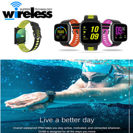 Wholesale Water Proof Watch Camera - GV68 Bluetooth smart watch wrist BLE 4.0 water proof IPS 1.22 big screen fitness tracking watchGV68 Bluetooth smart watch wrist BLE 4.0 wate