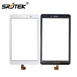 Wholesale Mediapad Digitizer - Wholesale- For Huawei Mediapad T1 8.0 3G S8-701u   Honor Pad T1 S8-701 White Touch Screen Panel Digitizer Glass Lens Sensor Replacement