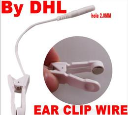 Wholesale Ear Plugs Hole - 1000pcs=500pair Plug Hole 2.0mm 2 EAR CLIP CLAMP ELECTRODE WIRE LEAD CABLES~CONNECTORS FOR DIGITAL MASSAGER TENS via dhl