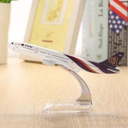 Wholesale Model Airplane Collection - Wholesale- New Arrival A330 Airplane Aircraft Model 16cm Airline Aeroplan Diecast Model Collection Decor Model Toys Gifts For Children