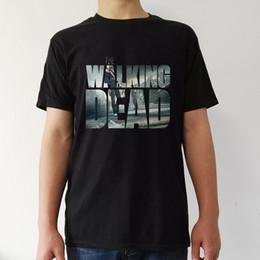 Wholesale Active Walking - the walking dead t shirt men casual Man's tee T-shirt Women's summer t short Sleeve black tops woman costume 2017