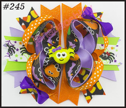 Wholesale Thanksgiving Boutique Bows Wholesale - free shipping 30pcs newest halloween boutique hair bows thanksgiving bows fall hair bows turkey candorn hair bow