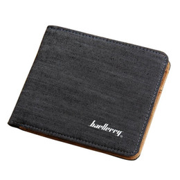 Wholesale Ladies Dressing Purse Green - Hot Sale Fashion Men Wallets Quality Soft Linen Design Wallet Casual Short Style 3 Colors Credit Card Holder Purse