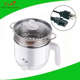 Wholesale Mini Electric Pot - 110v 220v electric cooker multi-function mini 1.5L electric kettle hot water boiler mini electric cooking pot stainless steel skillet