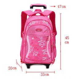 Wholesale Trolley School Bag For Girls - BAIJIAWEI 2017 Cartoon Design Children's School Backpacks Detachable Backpack For Girls Pretty Trolley Kids Bags Princess Style