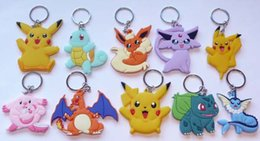 Wholesale pikachu mix - 40pcs Mix Style PIKACHU SQUIRTLE CHARIZARD KEY RING Keychain Party bag filler NEW