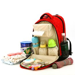 Wholesale Flora Bags - Wholesale-Baby diaper bag backpack Flora or dot Stroller bag waterproof Nappy changing maternity bag for travel Mother outdoor backpack