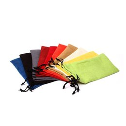 Wholesale Microfiber Sunglasses Bags - Soft Microfiber Cloth Pouch For Sunglasses Glasses Carrying Storage Bags Small Jewelry Gift Drawstring Pouches ZA3831