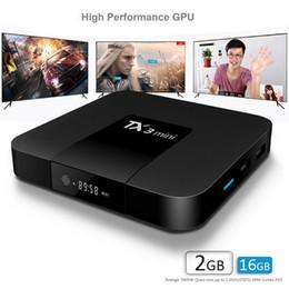 mx tv box quad core Promotion TX3 Mini boîtier de télévision android Amlogic S905W Quad Core 2 Go 16 Go Android7.1 boîtier de télévision 4K HD WIFI Smart tv Media Player
