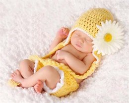 Wholesale Crocheted Boys Stocking Hat - 2017 New Style Stock Newborn Baby Girl Boy Crochet Knit Costume Photo Photography Prop Hats Outfits