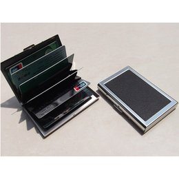 Wholesale Organizer Banks - Stainless Steel Women Men ID Credit Card Holder - Metal Bank Card Case Box Holder   Business Card Pouch Organizer
