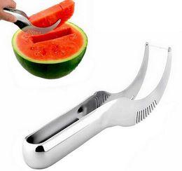 2019 cuchillo espiral Cuchillo cortador de la rebanadora de la sandía del acero inoxidable Cuchillo herramientas de la fruta de la fruta Gadgets de la cocina G389