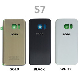 Wholesale Free Iphone Stickers - Samsung Galaxy S7 G930 S7 Edge G935 Glass Note5 N920 Battery Door Housing Back Cover Case&Logo+Sticker, battery cover free shipping DHL