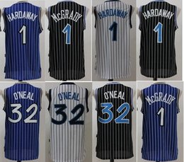 Wholesale Mcgrady S - 2017 McGrady Mens Throwback 32 Retro Shaquille O'Neal Shaq Jersey Stitched 1 Tracy McGrady 1 Penny Hardaway Jersey Stitched Shirts
