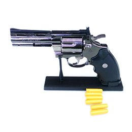 Wholesale inflatable ornament - Python Revolver Lighter 1: 1 Metal Revolver Type Gun Inflatable Windproof Lighter Furniture Ornaments Personalized Other Electronics
