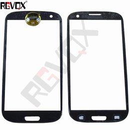 """Wholesale Screen Glass S3 Black - New Touch Glass For Samsung Galaxy S3 i747 i535 T999 i9300 4.7"""" For Front Screen Glass Lens Gray White Black Blue With Free Shipping"""