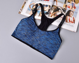 Wholesale Side Underwear - Sports Bra For Running Gym Padded Wire free Shake proof Underwear Seamless free shipping