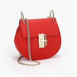 Wholesale Hard Shell Clutch - High Quality Women Messenger Bags Cowhide Leather Handbag Ladies Chain Shoulder Bags Clutch Fashion Crossbody Bag Brand Candy Color dhY-315