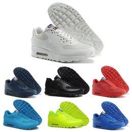 Wholesale American Canvas Shoes - Air 90 HYP PRM QS Men Women casual Shoes Air 90s American Flag Black White Navy Blue Gold Silver X-A-M Sport Trainers