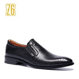 Wholesale High Heeled Dress Shoes Men - 2017 new men's high-end business men's men's dress shoes British fashion business printing Z6 exclusive #6263-1 6